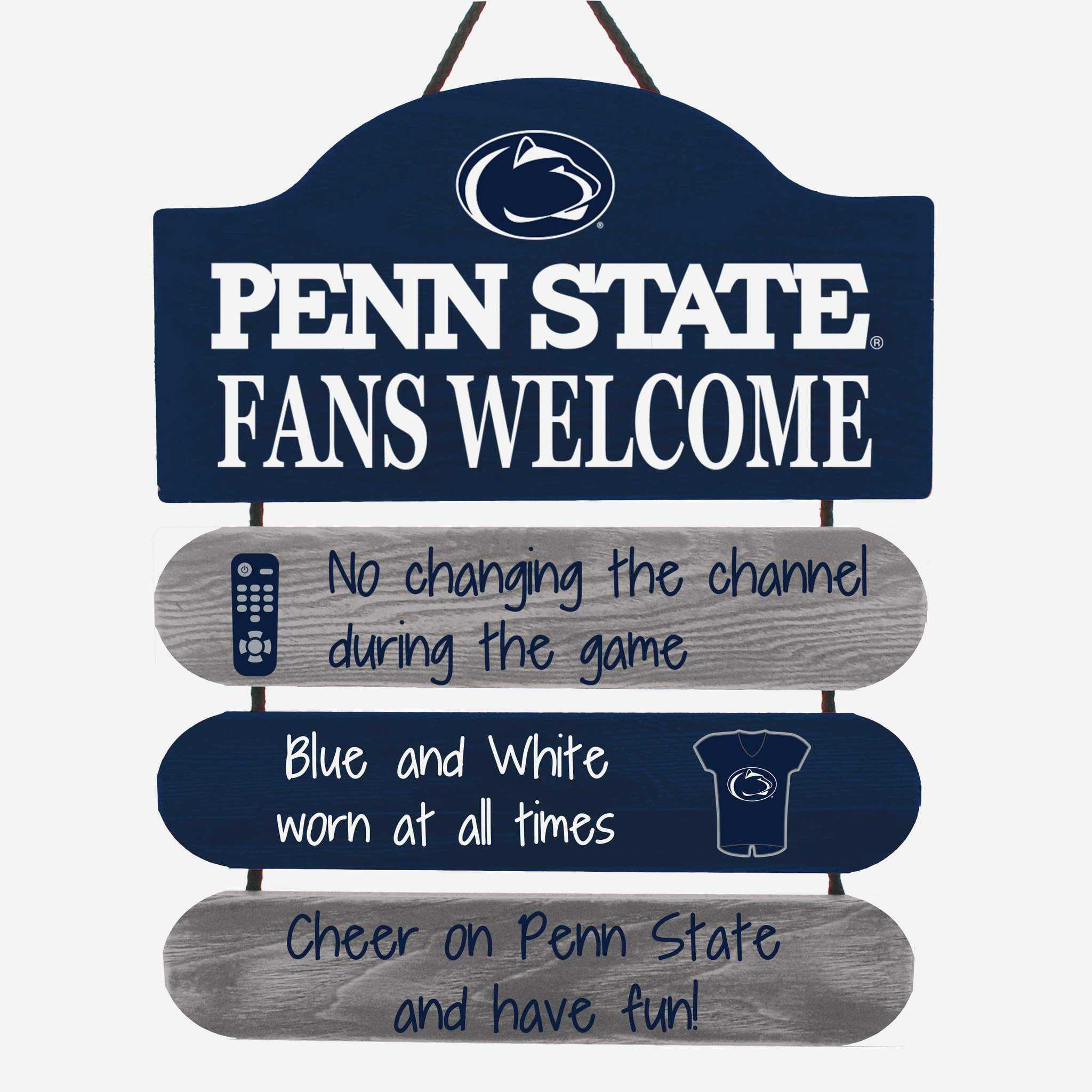 Penn State Nittany Lions Man Cave Rules Sign
