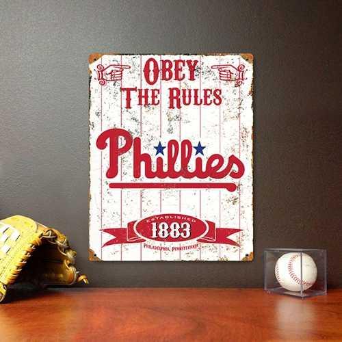 Philadelphia Phillies Embossed Metal Sign