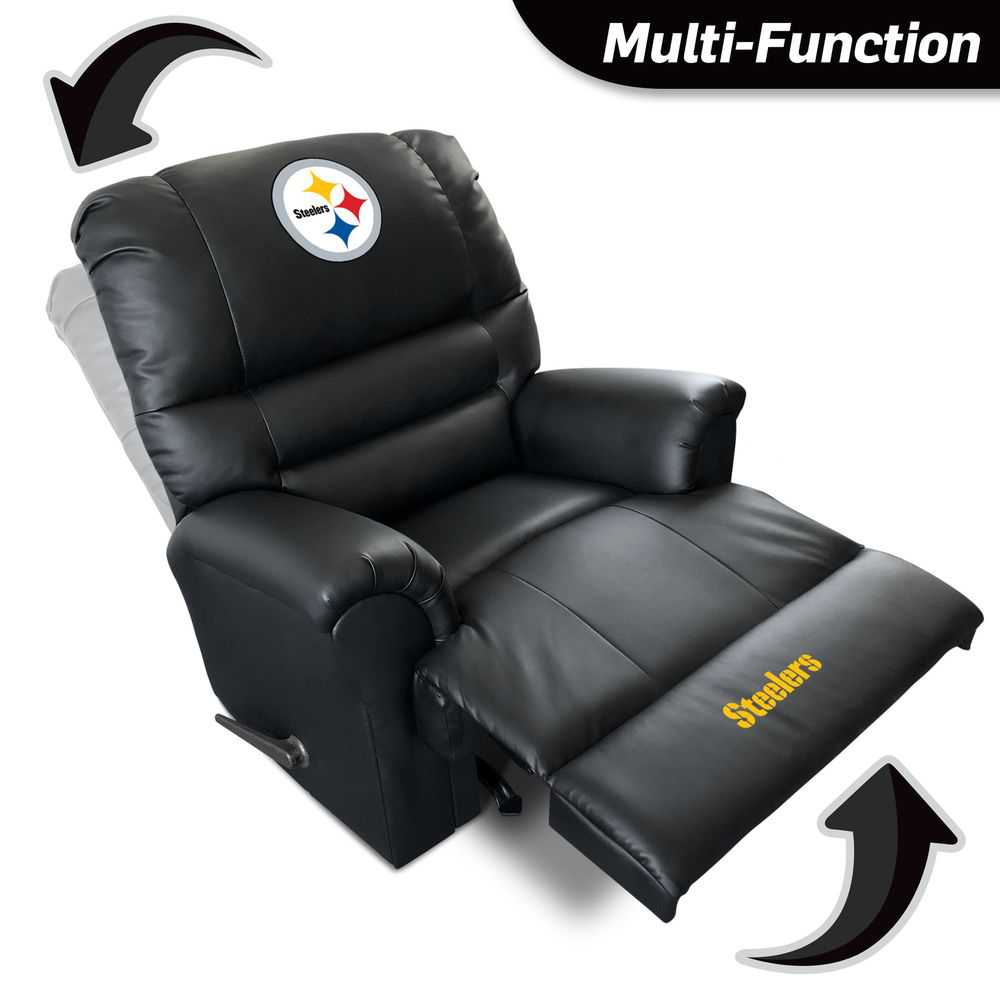 Pittsburgh Steelers Leather Sports Recliner
