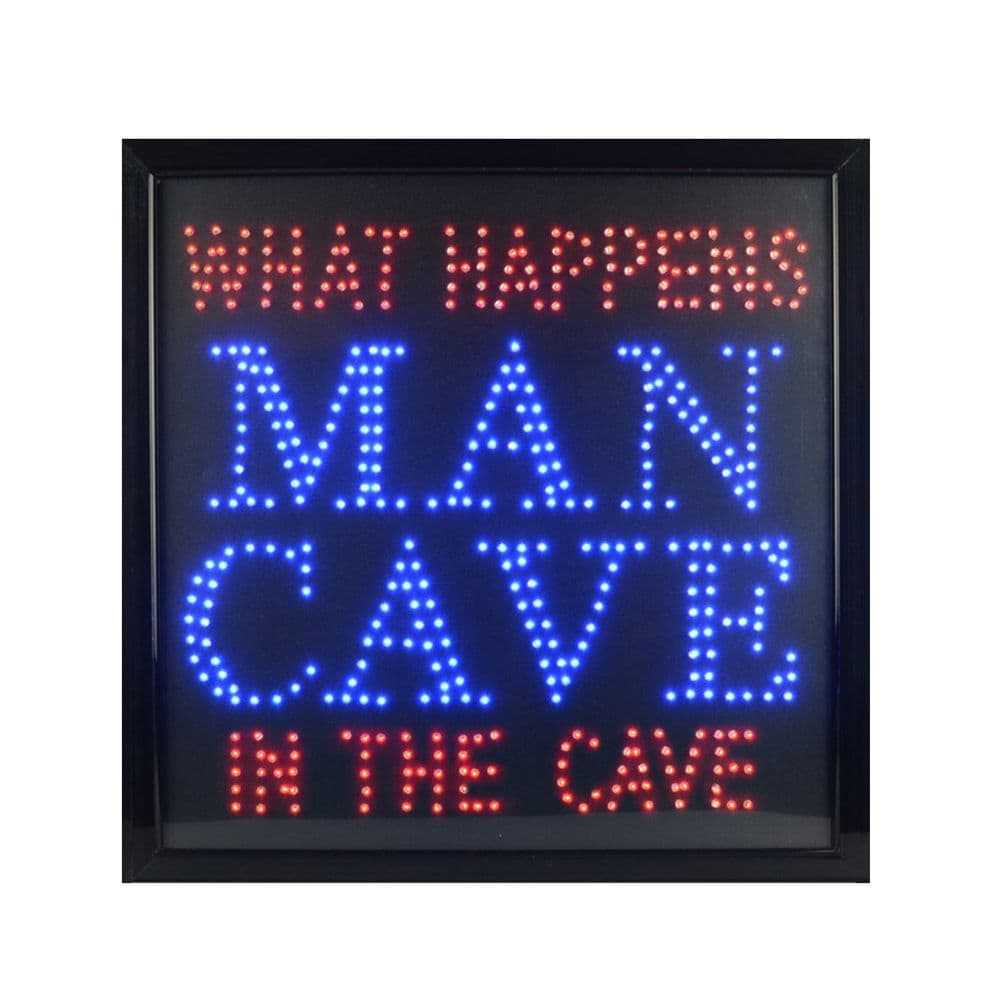 What Happens In The Man Cave LED Sign